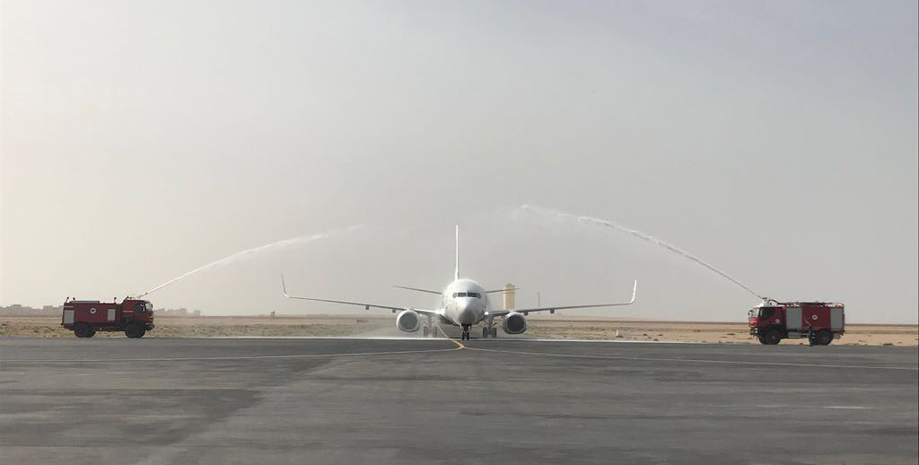 Retour en image sur  le vol inaugural Paris-Dakhla